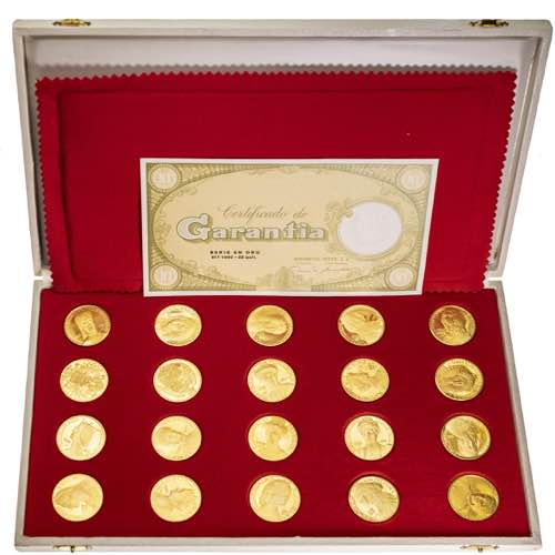 Estuche con 20 medallas de las ...